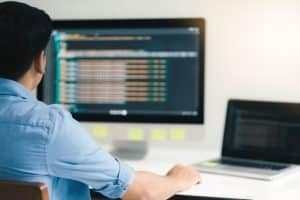 Computer programmer developing software application